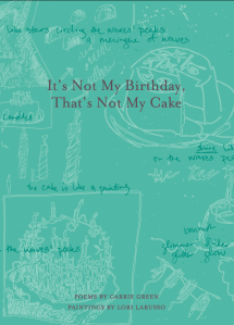 It's Not My Birthday, That's Not My Cake chapbook cover